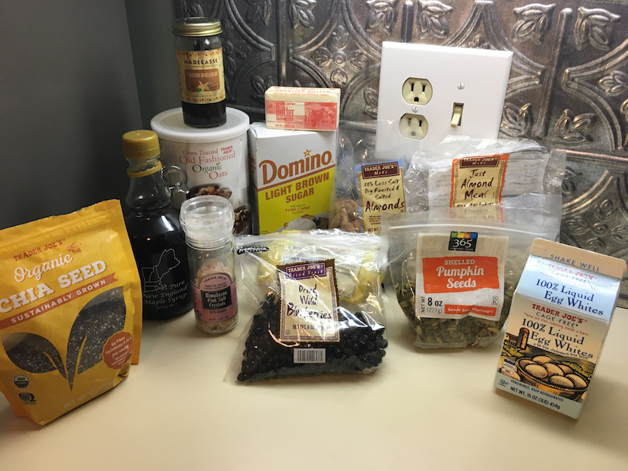 Granola Bark Ingredients